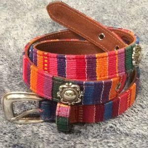 Belt - FOSSIL - Tribal Guatemala - CONCHO - LRG